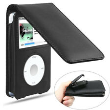 Camel Leather iPod Case With Belt Clip Black for iPod Classic Protective Case