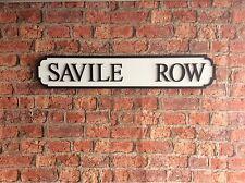 Vintage Wood Street Road Sign SAVILE ROW