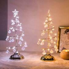 LED Tree Light Crystal Christmas Xmas Decorate Clear Diamond Table Stand Lights
