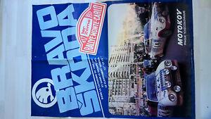 Affiche BRAVO SKODA doubé 130 RS groupe 2 rallye MONTE-CARLO 1977