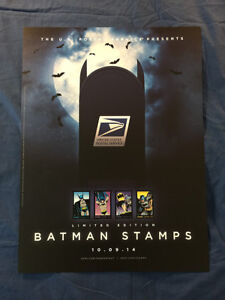 New York Comic Con NYCC October 9, 2014 Batman Stamps USPS 18x24 in Poster BS-A