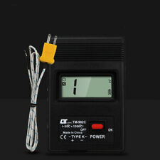 Digital Thermometer Temperature Reader Meter Sensor Thermocouple Probe Detector