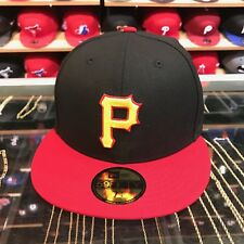 New Era Pittsburgh Pirates Fitted Hat 1999-2000 Alternate Black/Red/Yellow