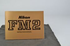 Nikon FM2 Camera Instruction Manual User Guide VGC (002)
