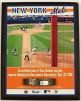 2008 New York Mets Shea Stadium Used Foul Pole Plaque From Final Game! MLB Worn