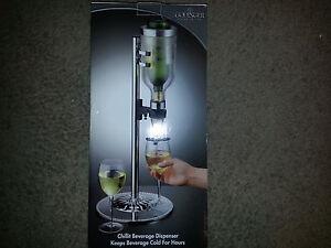 Godinger Silver Art Co Chill It Beverage Wine Dispenser Barware