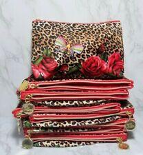 30 x ESTEE LAUDER RED FLOWER LEOPARD SKIN LIKE MAKEUP COSMETIC BAG 10*6.5*2.5