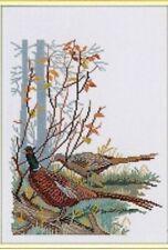 "Pheasants Cross Stitch Kit - Eva Rosenstand (12-562) - 9.75"" x 13.75"""