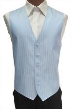 2XL Mens Light Carolina Blue After Six Radar Wedding Prom Fullback Tuxedo Vest