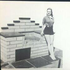 Vintage U Bild Enterprises Barbecue Project Plan Concrete Block Outdoor Grill