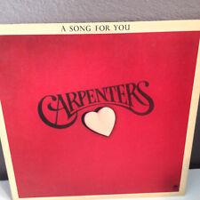 CARPENTERS - A Song For You - Vinyl Record Album LP -EX