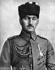 "Mustafa Kemal Ataturk Turkey Turkish Ottoman Portrait 1919, 6x5"" Reprint Photo"
