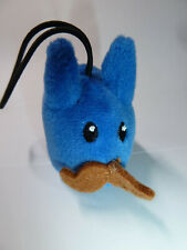 Blue Labbit with moustache mini plush toy Kidrobot Frank Kozik rabbit bunny 2011