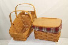 Longaberger Recipe Basket Combo & Vegetable Basket