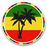 2 x Vinyl Stickers 10cm - Jamaica Rasta Palm Tree Flag Cool Gift #5649