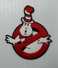 USA The Cat in the Hat Ghostbusters No Ghost Retro Style Iron on Patch Applique