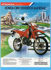 MOTOSPRINT990-PUBBLICITA'/ADVERTISING-1990- HONDA CRM 125 R