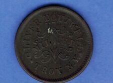 1863 CIVIL WAR TOKEN STORE CARD OLIVER BOUTWELL MILLER TROY N.Y. REDEEMED SA 135