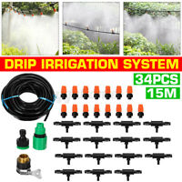 15M Micro Drip Irrigation Watering Automatic Garden Plant Greenhouse