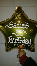 Personalised Helium Foil Balloon Birthday 13th,16th,21st, 30th, 40th, 50th, 60th