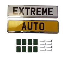 2X Chrome Car Number Plate Holders Frames Surrounds FOR  MITSUBISHI L 200 96-
