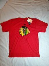 Adidas Chicago Blackhawks Mens Red Go To Tee T-Shirt Sz Large Cotton Nwt