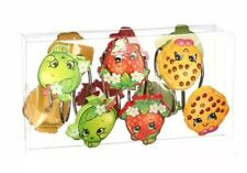 "New ""Shopkins"" Shower Curtain Hooks Apple Strawberry Cookie Resin (Set Of 12)"