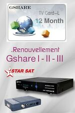 Recharge Gshare Géant , StarSat , Pinacle , Tiger 12 mois Officiel