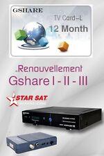 Recharge Starsat 2000 HD Hyper / Starsat 2020 HD Super gshare 12 Mois Officiel