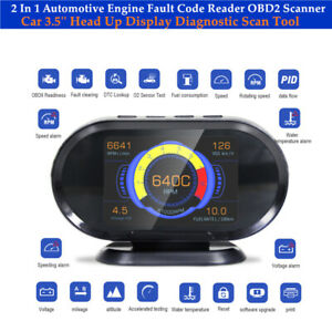 Automotive Engine Fault Code Reader OBD2 Scanner Head Up Display Diagnostic Tool