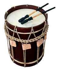 """Landsknechtstrommel / Renaissance Drum, 13,5"""" x 19"""", Dark Brown"""