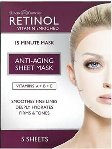 Skincare LdeL Cosmetics RETINOL Anti Aging Sheet Mask x 5 - Vitamins A + B + E