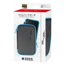 Hori Nintendo 2DS LL Official Licensed Slim Hard Pouch Case Black Blue 2DS-108