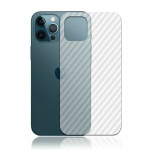 5X TOP QUALITY CARBON FIBRE BACK PROTECTOR FILM COVER FOR IPHONE 12 PRO MAX