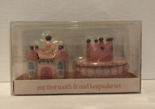 Pink Princess Castle & Crown My First Tooth & Curl Keepsake Set-New In Box