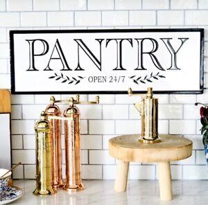 Pantry Black and White Enamel Kitchen Plaque Hamptons Coastal Home Decor