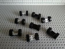 LEGO VINTAGE - 8 PIECES (122c01) 2x2 WHEEL HOLDERS PLATE & WHEELS TYRES & HUBS