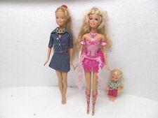 MES-38486Barbie 3 St. Puppen verschiedene gebraucht,