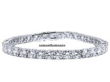 "3mm Signity Cz Cubic Zirconia Line Tennis Ankle Bracelet Anklet Ladies New 9.5"""