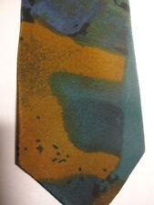 """Bugle Boy USA Tie Orange Brown Green Blue Designs 57"""""""