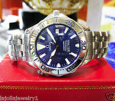 Mens OMEGA Seamaster Professional Chronometer Stainless Steel Wave Dial Watch