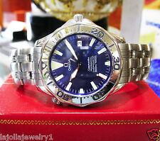 Mens OMEGA Seamaster Professional Chronometer Automatic Wave Dial 300M BOND
