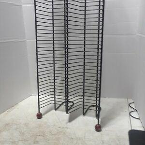 100 CD Capacity Shelf Media Storage Tower Rack Organizer Stand Holder