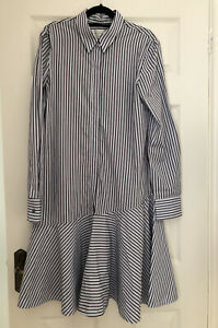 Victoria Beckham VVB Striped shirt Dress Size 8. Worn Once. Excellent Condition