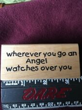 """Great Impressions """"Wherever You Go..."""" Rubber Stamp #E198 BRAND NEW"""