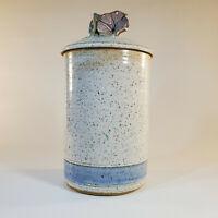 "Robin Beckett Morning Glory Approx 9"" Lidded Cansiter Studio Art Pottery Retired"
