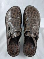 BOC B.O.C Born Concept Women's Buckle Clog Shoes 9 Brown