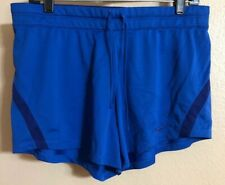 NIKE DRI-FIT INFIKNIT MID TRAINING SHORTS Athletic Running Women's Large L Blue