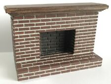 Small Tudor Style Brick Fireplace, Dolls House Miniature, Miniatures