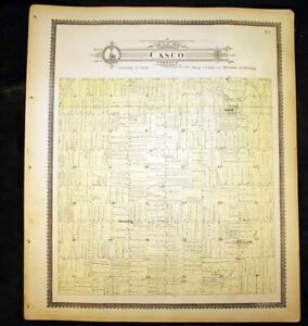 "Casco Township Antique Plat Map 1898 St. Clair County Michigan 15""x17½"""